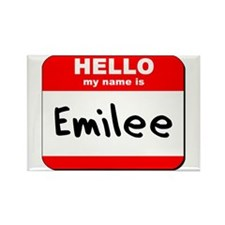 Hello my name is Emilee Rectangle Magnet
