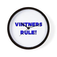 Vintners Rule! Wall Clock
