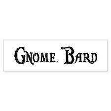 Gnome Bard Bumper Bumper Sticker