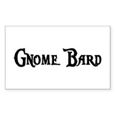 Gnome Bard Rectangle Decal