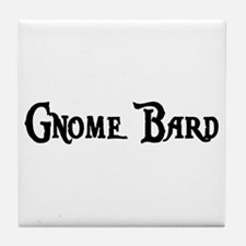 Gnome Bard Tile Coaster