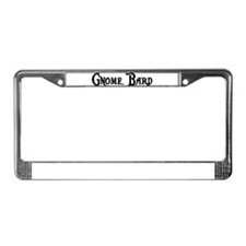 Gnome Bard License Plate Frame