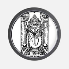 The Hierophant Tarot Card Wall Clock