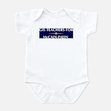 GIS TEACHERS for McCain-Palin Infant Bodysuit