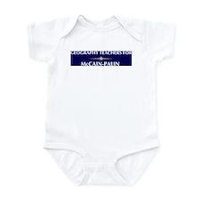 GEOGRAPHY TEACHERS for McCain Infant Bodysuit