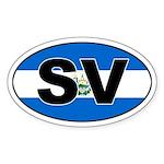 El Salvador (SV) Flag Oval Sticker