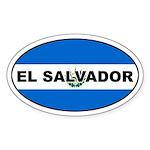 El Salvador Flag Oval Sticker