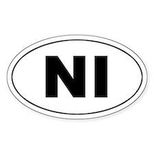 Nicaragua (NI) Oval Decal