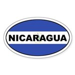Nicaragua Flag Oval Sticker
