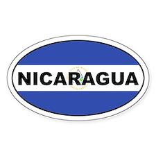 Nicaragua Flag Oval Decal