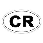 Costa Rica (CR) Oval Sticker