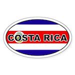 Costa Rica Flag Oval Sticker