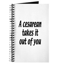 A cesarean takes it out of you. Journal
