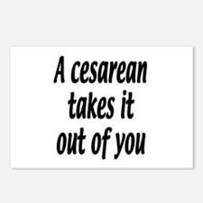 A cesarean takes it out of you. Postcards (Package