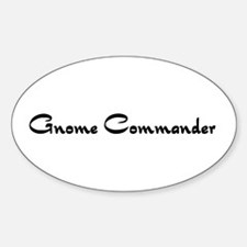 Gnome Commander Oval Decal