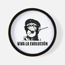 Viva La Evolucion Darwin Wall Clock