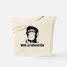 Viva La Evolucion Darwin Tote Bag