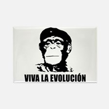 Viva La Evolucion Darwin Rectangle Magnet