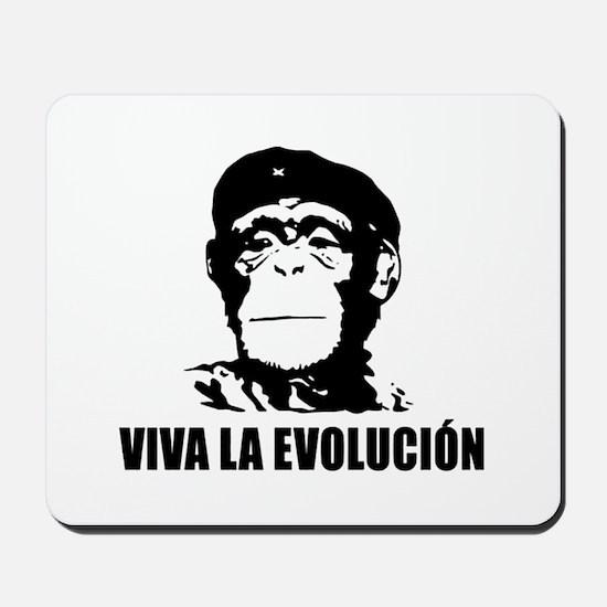 Viva La Evolucion Darwin Mousepad