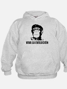 Viva La Evolucion Darwin Hoodie