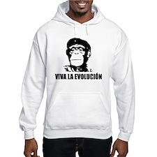 Viva La Evolucion Darwin Hoodie Sweatshirt
