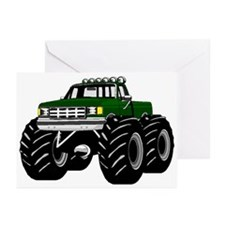 GREEN MONSTER TRUCKS Greeting Cards (Pk of 10)