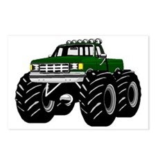 GREEN MONSTER TRUCKS Postcards (Package of 8)