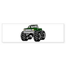GREEN MONSTER TRUCKS Bumper Bumper Sticker