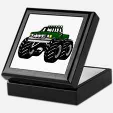 GREEN MONSTER TRUCKS Keepsake Box