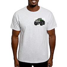 GREEN MONSTER TRUCKS Ash Grey T-Shirt