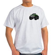 GREEN MONSTER TRUCKS Ash Grey T-Shirt