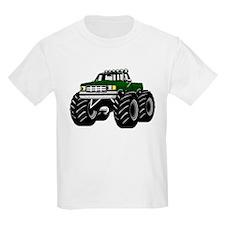 GREEN MONSTER TRUCKS Kids T-Shirt
