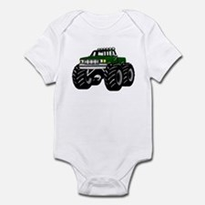 GREEN MONSTER TRUCKS Infant Creeper