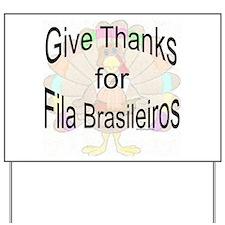 Thanks for Fila Yard Sign