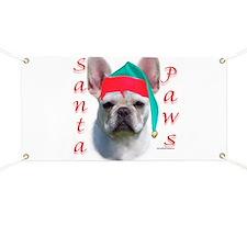 Santa Paws white Frenchie Banner