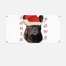 Santa Paws black Frenchie Banner