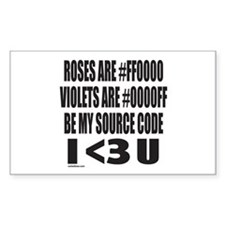 BE MY SOURCE CODE Rectangle Decal