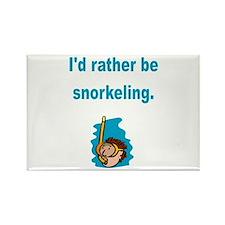 Snorkeling Rectangle Magnet (100 pack)