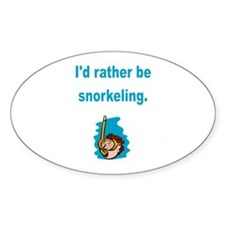 Snorkeling Oval Sticker (10 pk)