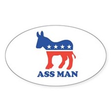Ass Man Oval Decal