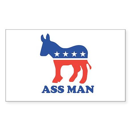 Ass Man Rectangle Sticker