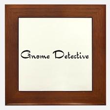Gnome Detective Framed Tile