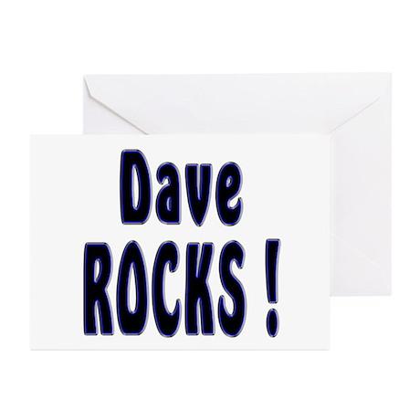 Dave Rocks ! Greeting Cards (Pk of 10)