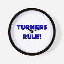 Turners Rule! Wall Clock