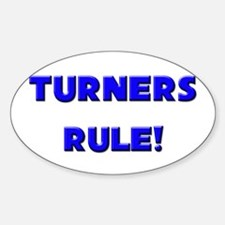 Turners Rule! Oval Decal