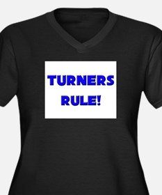 Turners Rule! Women's Plus Size V-Neck Dark T-Shir