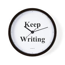 Cute Writing Wall Clock