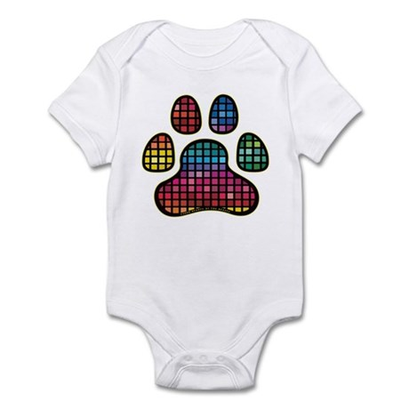 Stained Glass Rainbow Paw Infant Bodysuit