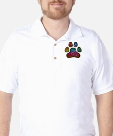 Stained Glass Rainbow Paw T-Shirt