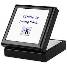 Playing tennis Keepsake Box